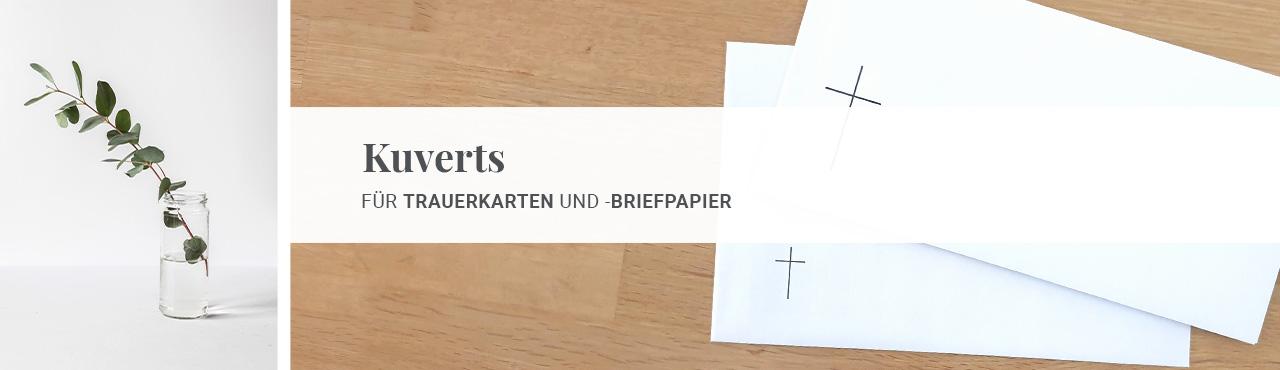 für Trauerkarten und -briefpapier