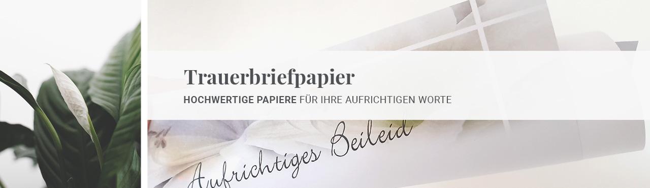 Trauerbriefpapier